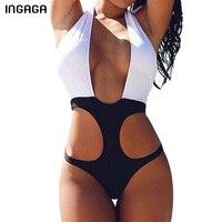 INGAGA One Piece Swimsuit 2017 New Sexy Halter Swimwear Women Monokini Swimsuit Summer Beach Wear Bathing