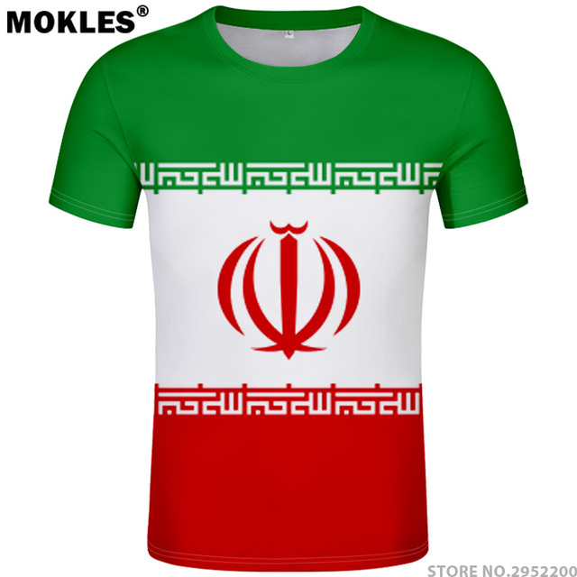 17635a136 IRAN t shirt diy free custom made name number irn t-shirt nation flag  country republic islam persian college print photo clothes
