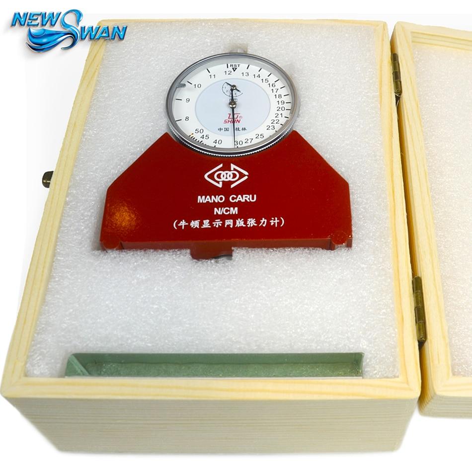 Profesjonalny miernik napięcia siatki stalowej 8-50N Tester ciśnienia Newtona Tensometr mechaniczny do napinania sitodruku