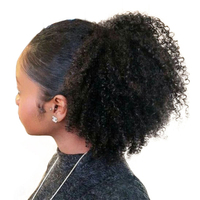 Afro Kinky Curly Ponytails Clip In Human Hair Brazilian Remy Hair Natural Color You May