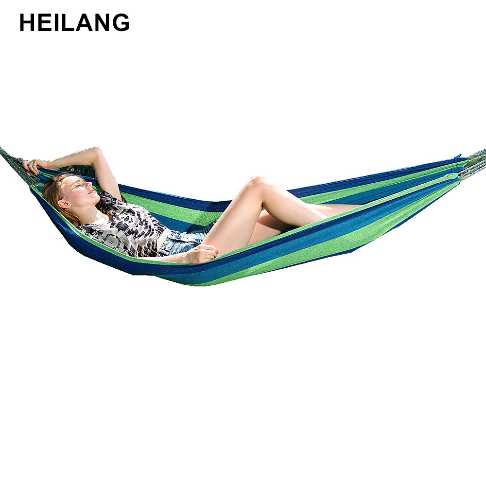 200*80cm 1 People Outdoor Canvas Camping Hammock Leisure bed Hamak Garden Swing Hanging Chair Hangmat hamac haac hamaca hangmat road bike carbon fiber saddle mtb bicycle hollow breathable saddle cycling comfortable cushions mountain bike riding accessories