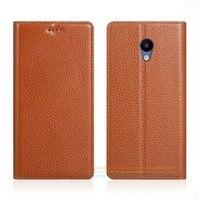 Invisible Magnet Genuine Leather Case For Meizu M5 Mini M5 5 2 Luxury Mobile Phone Flip