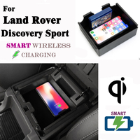 QI Wireless charger For Land Rover Discovery Sport Hidden Wireless charging Phone Holder Storage Box