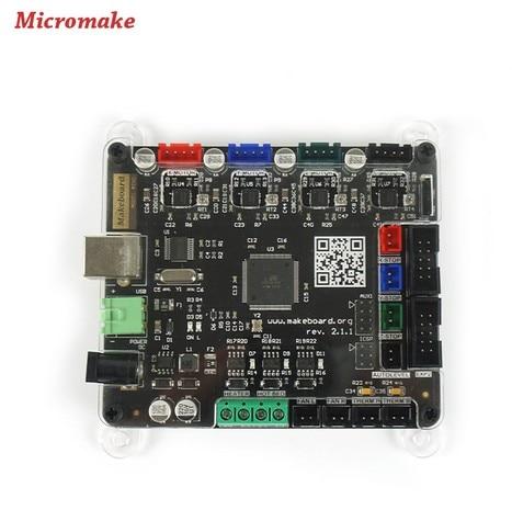 Micromake 3D Imprimante D1 Makeboard Mini Tableau De Commande du panneau de Commande Principal Compatible Rampes 1.4 Soutien Lit Chauffant 3D Pièces D'imprimante