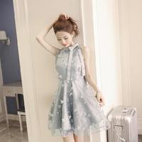 Ball Gown Embroidery Flower Women Dress Bow Lace Off Shoulder Ladies Dresses Lolita A Line Party Femme Vestidos Z619