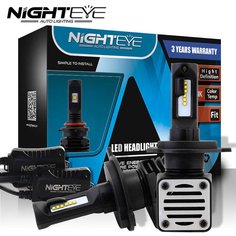 NIGHTEYE N1 H4 H7 H11 H1 9005 9006 H3 9007 LED Headlight 80W 12000LM All in one Car LED Headlights Bulb Fog Light 6000K 12V 24V