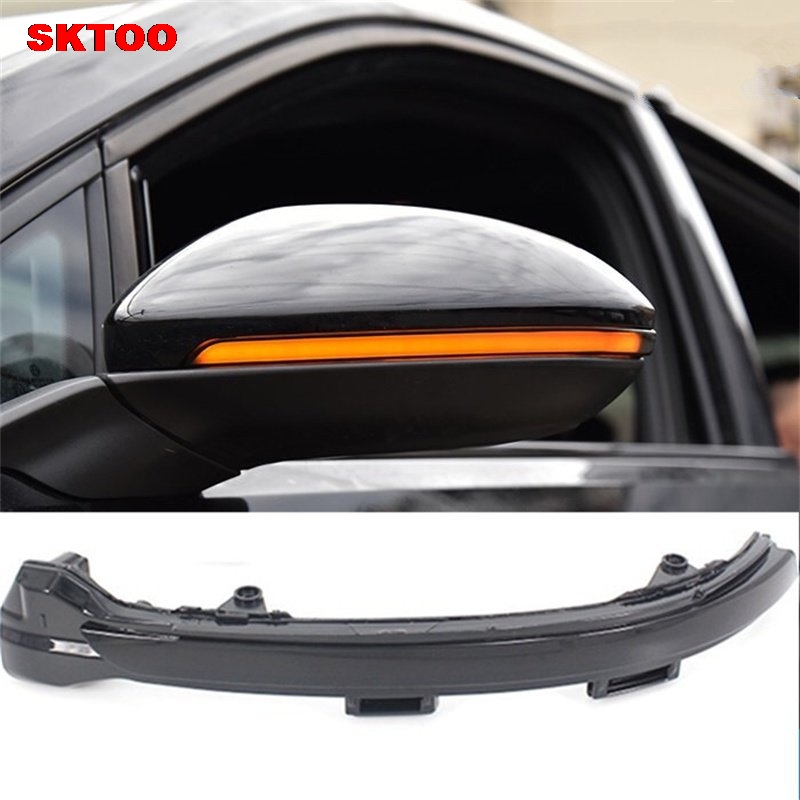 For Volkswagen VW Golf 7 GTI R Sportsvan Touran LED Flowing Rearview Mirror Turn light rhino tuning 2pc styling car led under mirror puddle light smd lighting for golf 6 gti cabriolet touran