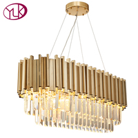 Youlaike Luxury Modern Crystal Chandelier For Dining Room Luxury Living Room Hanging Gold LED Lamps