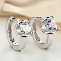 Trendy Cubic Zirconia Stud Earrings For Unisex 925 Sterling Silver Exquisite Package Earrings Fashion Jewelry Men
