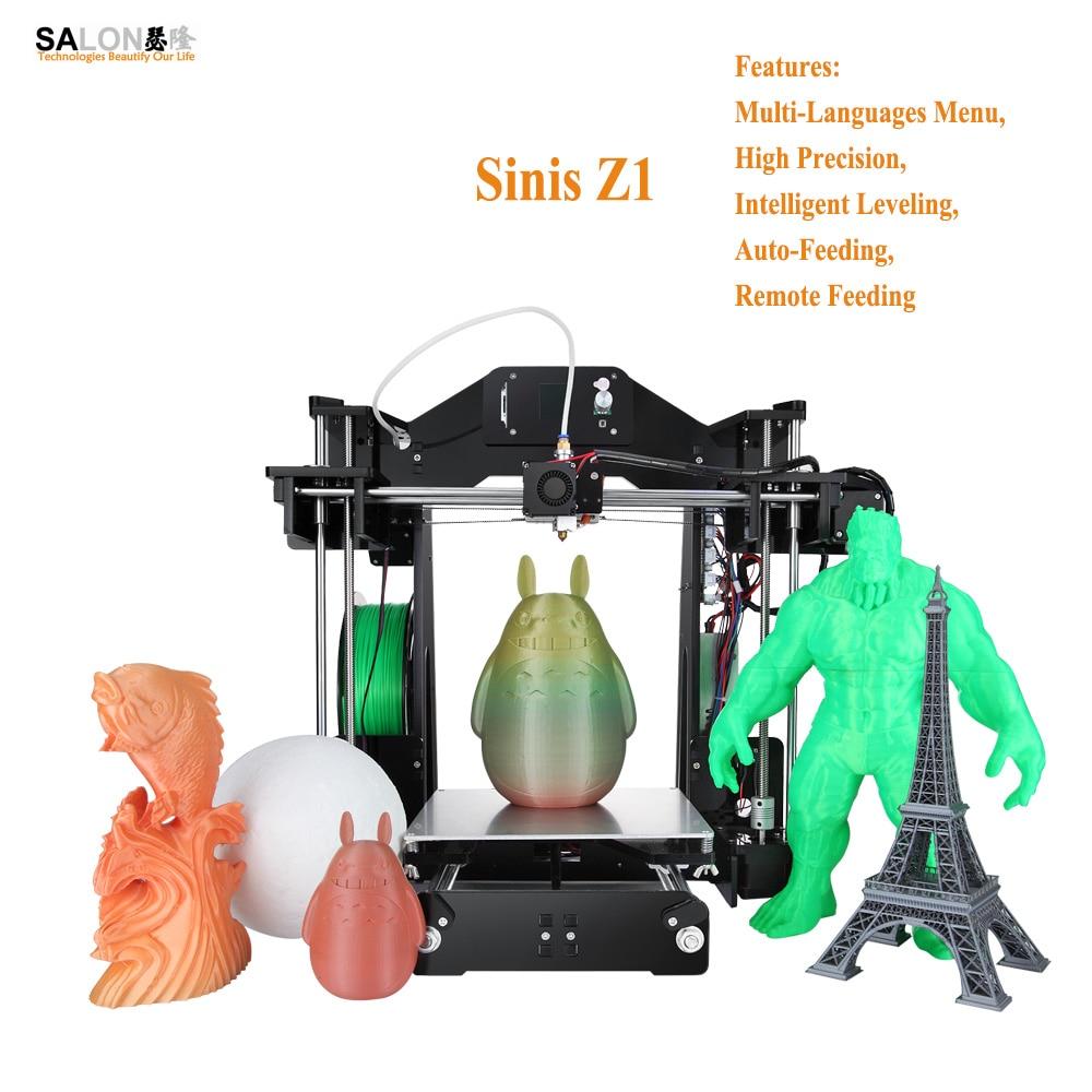 Sinis Z1 Most Economic 3d Printer Machine Auto Feeding Smart Leveling Impressora 3d With Multi Language