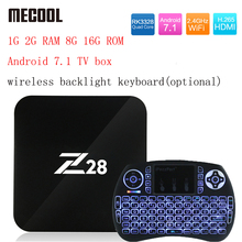 Z28 Android 7.1 TV box 1G 2G RAM 8G 16G ROM RK3328 Quad core 2.4 GHz WiFi H.265 HDMI Smart Set Top Box Media Player PK X96 A95X