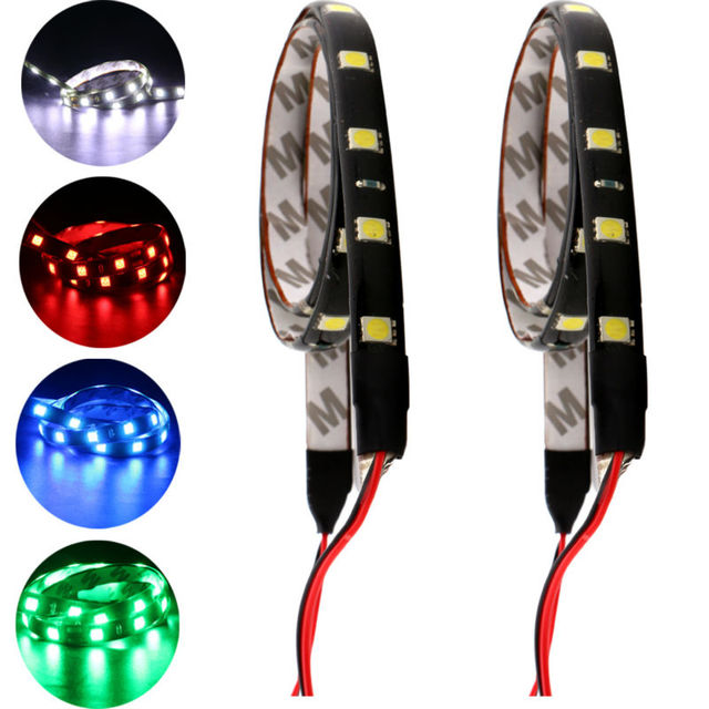 100PCS LED Strip Lights 60CM Flexible 30 LED 5050 30 SMD Strip Light Car  Auto Decorative