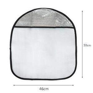 Image 4 - 20Pcs Car Steering Wheel Sunshade 2 Layer Silver Auto Sun Shade Sun Protection Jacket Insulated Aluminum Foil Handlebar Cover