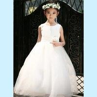 Retail Elegant Tulle Ball Gown Long Flower Girl Dresses Girls First Communion Birthday Dresses LP 53