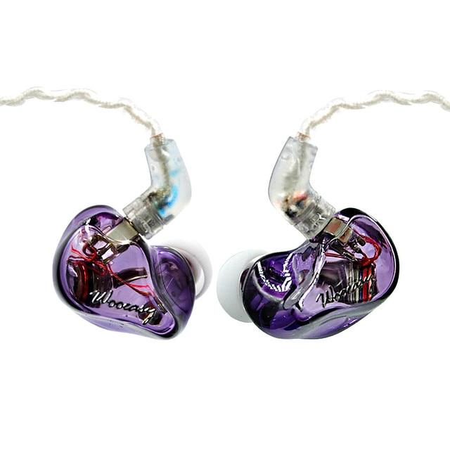 Wooeasy DB2 1BA With 1 DD in Ear Earphone Custom Made Hybrid Around Ear Earphone With MMCX Plated Earphone