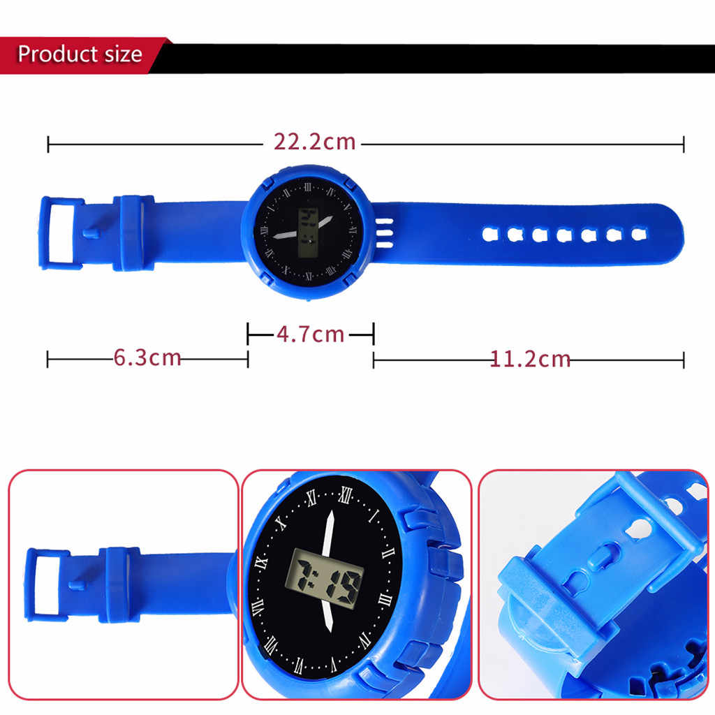 Los niños relojes digitales niños analógico reloj deportivo Digital electrónica LED impermeable 3Bar relojes de muñeca relojes bambini 03 *