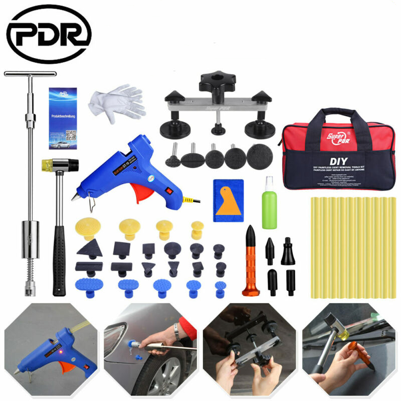 PDR Tools Slide Hammer Paintless Dent Repair Tools Dent Removal Dent Puller Tabs Dent Lifter Hand Tool Set Tool Kit