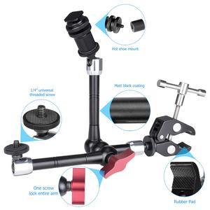 Image 5 - Soporte de brazo mágico de fricción articulada ajustable, pinza para cámaras de acción, micrófono, soporte cabezal para vehículo
