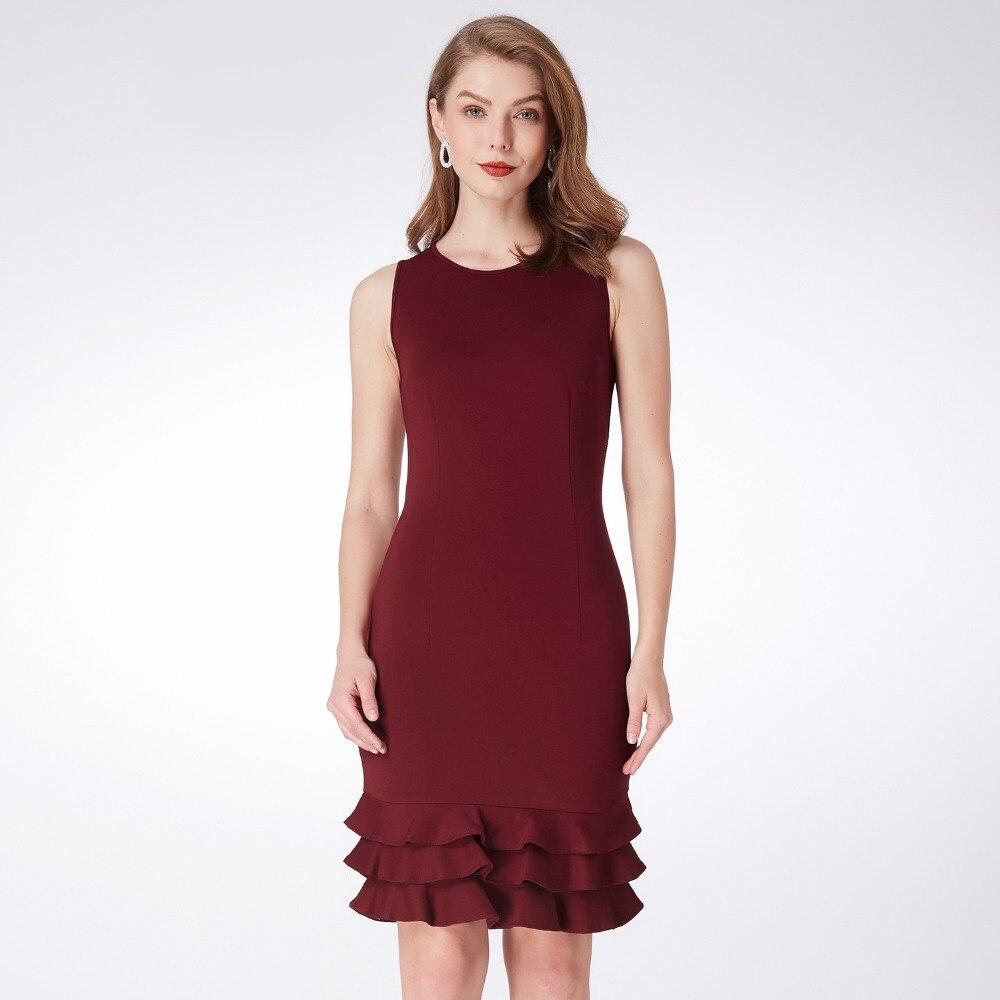 a536d179f30 Коктейльные платья постоянно довольно EP03792 особых случаев модные женские  туфли с длинным рукавом Slim Fit элегантные кружева 2018 коктейльные платья  ...