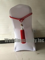 200 Luxury Chair Sash Wedding Chair Ribbon Red Rope For Decoration Hot Sale Promotion Free Shipping