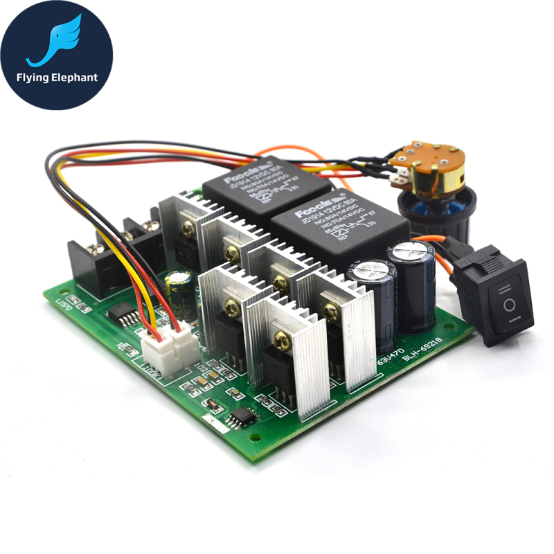 DC Speed Motor Controller Forward Reverse 10-50V 40A 60A For Brush Motor Reversing Control 0% - 100%
