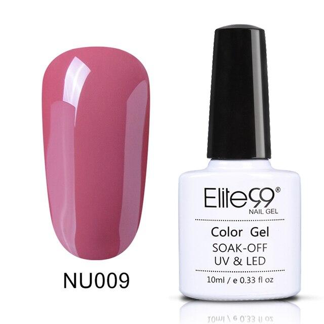 Elite99 10 ml Nude Farbe Gel Nagellack Tränken Weg Von UV Nail art Design Maniküre Vernis Semi Permanent Nagellack lack