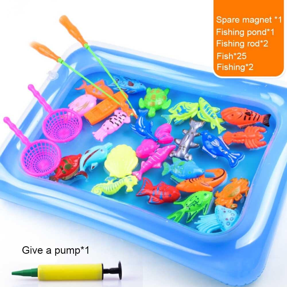 Kinderen Jongen Meisje Vissen Speelgoed Set Pak Magnetische Play Water Baby Speelgoed Vis Vierkante 3d Vis Babybadje Speelgoed Hot Gift Voor Kids