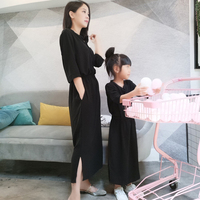 Fashion Red Long Dress Mother Daughter Dress Slim Fashion Family Matching Outfits New Summer Matching Mom Daughter Dresses