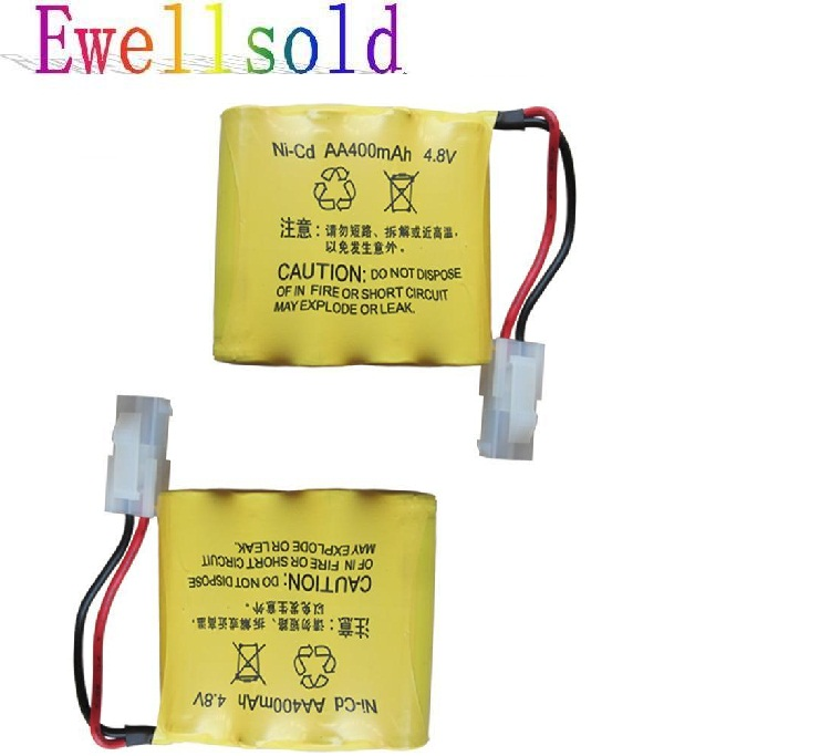 Ewellsold 2pcs 4.8V 400mAh Ni CD AA battery for RC car|battery for rc|battery for rc car|battery for car - title=