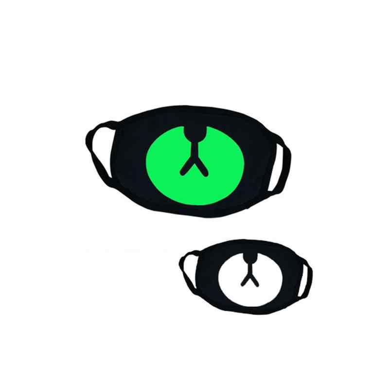 MISS M черная Толстая Зеленая светящаяся маска Ужас забавные зубы медведь усы ажурная маска Хэллоуин хлопковая маска для мужчин и женщин COS