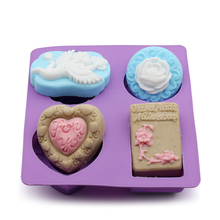 DIY handmade soap silicone mold angel rose love full set of cold making molds