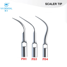 Puntas de escalador dental 3pcs / lot PD1, PD3, PD4 fit equipos dentales SATELEC / DTE / GNATUS para la limpieza de los dientes y blanqueamiento dental