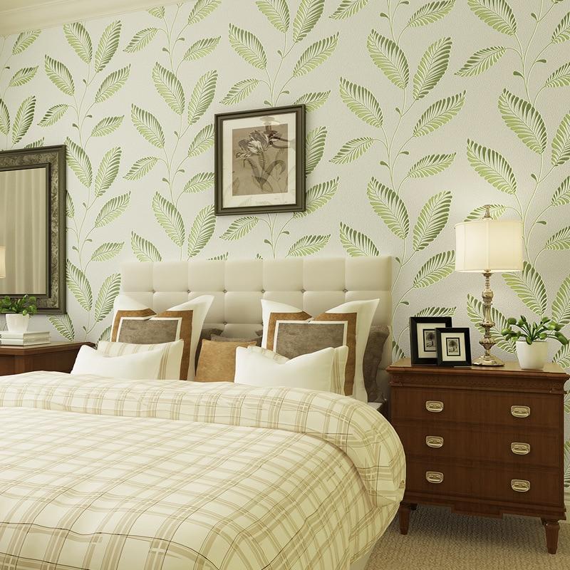 beibehang Modern simple non - woven wallpaper green leaves rattan wallpaper papel de parede para quarto, wallpaper for walls 3 d beibehang blue wallpaper non woven