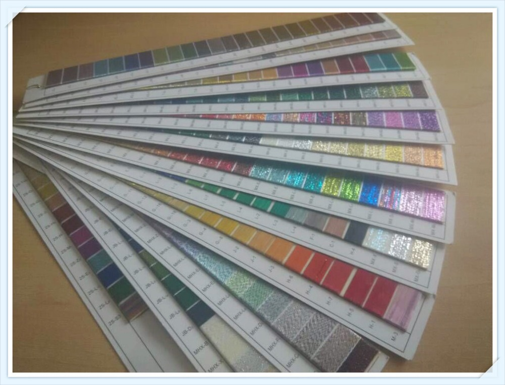 Brand New Metallic Machine Embroidery Thread Color Chart Color Card With Super Luster, 279 Colors Kit ,Free Shipping