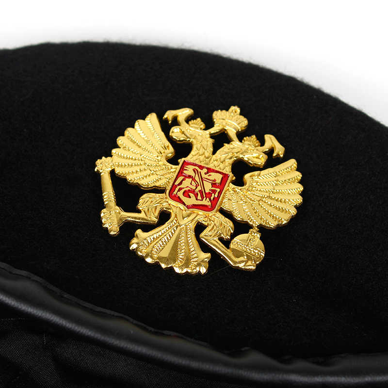784daaf4ca3 ... Winter Wool Knitted russian Army Men Beret Hat Special Forces Soldiers  Uniform Cap Death Squads Military ...
