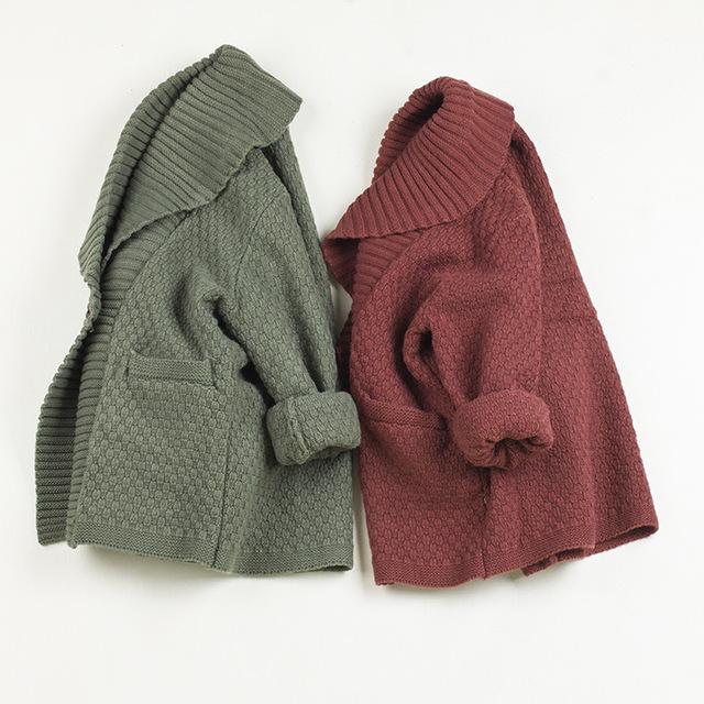 2016 de Alta Qualidade Menino Camisola Do Bebé do Inverno Mão De Malha Pullover Camisola Casaco Pullover Criança Roupas Outwear para o Casamento de Luxo