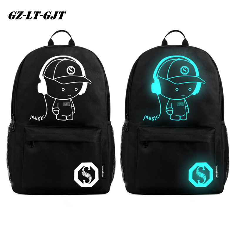 GZ-LY-GJT Fashion Anime Student School Backpack Anime Luminous Backpack For Teenager Anti-theft Boys Girl School Bag seanna кардиган сливочный зигзаг