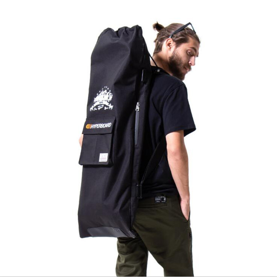 Professional Electric Skateboard Bag 105x40cm Shouler Double Rocker Skateboard Backpack Multi-functional Drawstring Bag