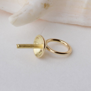 18K Gold Pendant Connector Bead Cap Eyepin and Closed Jump Ring, 18Karat Solid 18ct Dangle Earring and Pendant Finding(China)