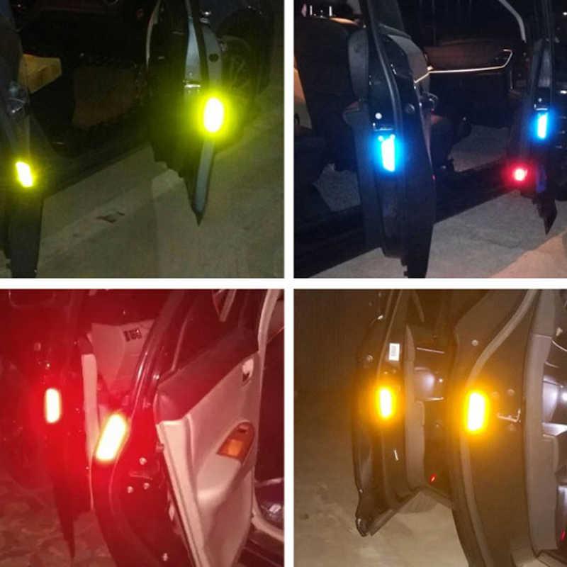 4 قطعة علامة تحذير عاكس الشريط الخارجي اكسسوارات السيارات ملصقات الباب لكيا ريو K2 K3 K5 Ceed سبورتاج سورينتو الروح أوبتيما