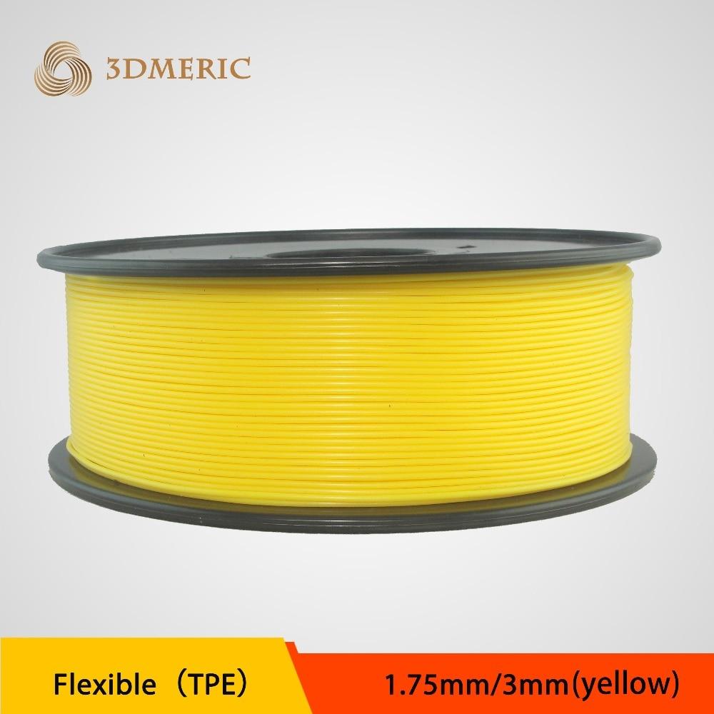 ФОТО 7 optional Color 3D Printer Filament 1.75MM TPE Flexible Plastic Material Consumables For MakerBot RepRap UP Mendel
