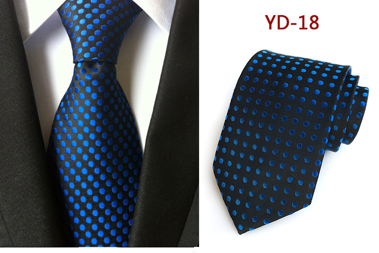 Business Polka Dot Slim Silk Ties for Men