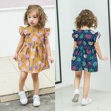 2019 летние хлопковые платья для маленьких девочек повседневное