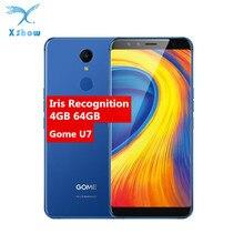 """מקורי גומא U7 5.99 """"נייד טלפון MTK6757CD אוקטה Core 13MP 4GB + 64GB 3050mAh אנדרואיד 7.1 OTG NFC טביעות אצבע 4G LTE טלפונים סלולרי"""