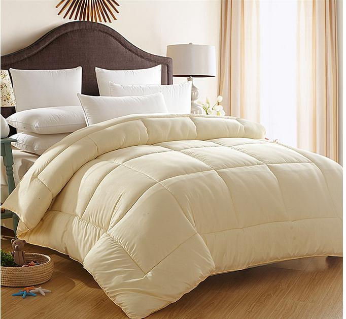 Pink luxury bedding quilts cotton goose down comforter beige