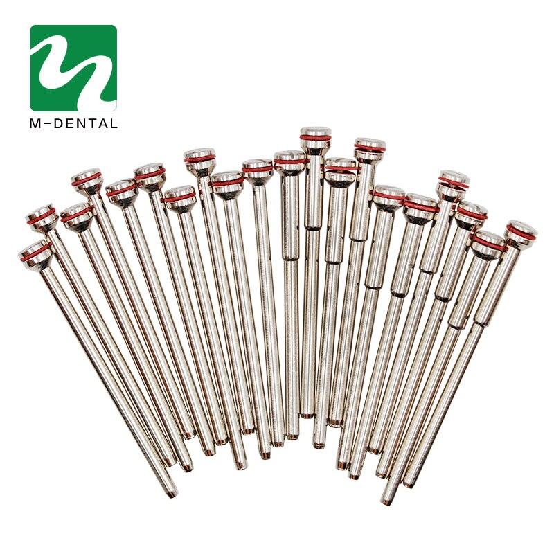 10Pcs/bag Dental Material Dental Clamp Needle Clip Stone Sand Sheet Holder Holding Pin Polishing Shank Mandrel Burs Rotary Tool