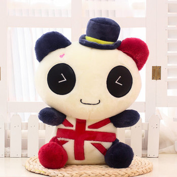 about 45cm panda plush toy soft throw pillow, Christmas birthday gift F045