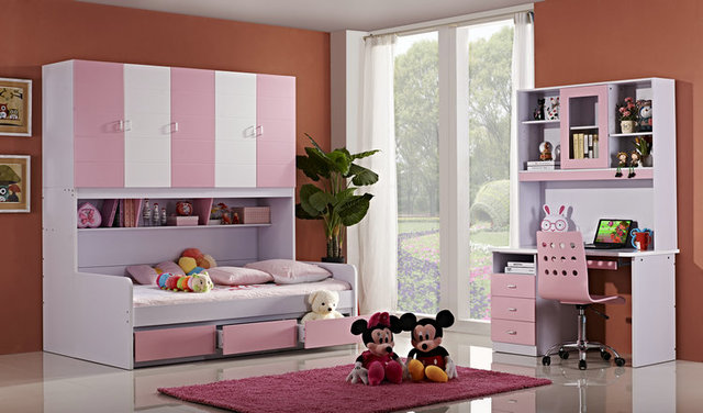 Children S Fairy Tale Furniture Wardrobe Bed Storage Combination Bed
