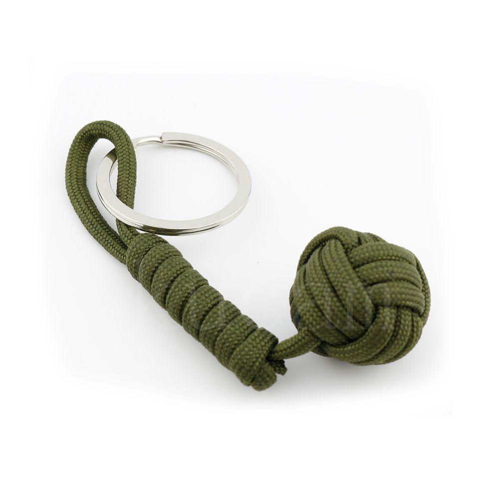 Nova 3/Proteção de Segurança Cor Macaco Punho de Aço do Rolamento de Esferas Self Defense Colhedor Survival Chaveiro Dropshipping 6