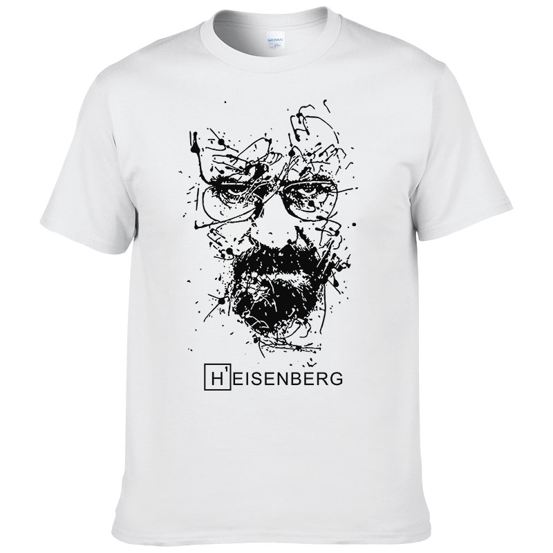 2017 New Fashion Breaking Bad T Shirts Men Heisenberg Camisetas Hombre Men Cool Tee Shirt Tops Short Sleeve Cotton T-shirts #191